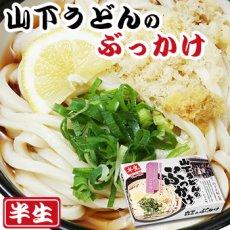 画像1: 讃岐うどん 山下のぶっかけうどん 2食入(半生麺、箱) (1)