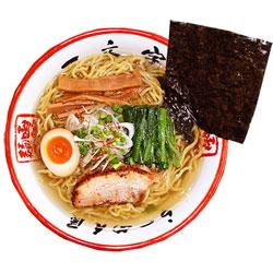 画像1: 函館ラーメン「一文字」(細麺、塩スープ)1箱4食入  これぞ!塩ラーメン ご当地ラーメン(常温保存) (1)