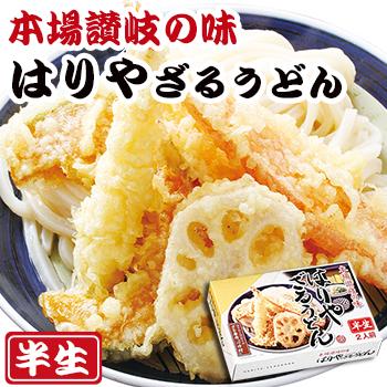 画像1: 讃岐うどん はりや ざるうどん 2食入(半生麺、箱) (1)